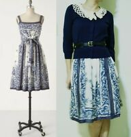 c3e756973f1b ANTHROPOLOGIE BURLAPP Bold Boutonniere Cotton Dress Sz S MSRP $ 148 ...