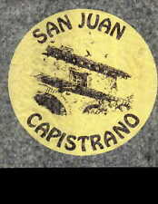 SAN JUAN CAPISTRANO vintage 70s iron on t shirt transfer full size NOS