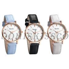 Women's Ladies Fashion Charm Leather Straps Band Round Dial Quartz Wrist Watches