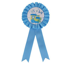 """Baby Shower """" It's a Boy"""" ROSETTE Diamante Badge Gift present Accessory"""