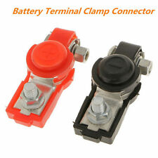 2pcs Car /Truck Battery Terminal Clamp Set Positive & Negative Connector Charge