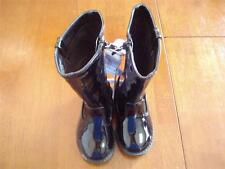 Toddler Girl's Black Faux Patent Leather Boots   Size 6  NWT!