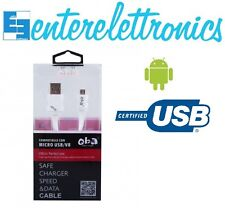 Cavo SAMSUNG ricarica rapida cavetto dati USB android htc huawei 250 CM S4 S5 S6