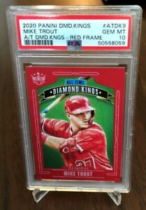 2020 All Time Diamond Kings Red Frame #ATDK9 SP Mike Trout PSA 10 POP 2 Angels