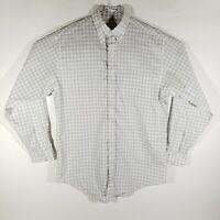 BROOKS BROTHERS 346 Mens Button Down Shirt 100% Cotton No Iron Long Sleeve Plaid
