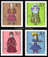 EBS Germany 1968 - Welfare: Dolls - Wohlfahrt: Puppen - Michel 571-574 MNH**