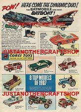Corgi Toys GS 3 Batman Batmobile Batboat Gift Set 1967 Poster Advert Leaflet