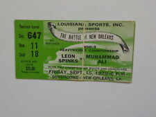 MUHAMMAD ALI vs LEON SPINKS II Boxing Ticket 1978 Cassius Clay New Orleans VTG N