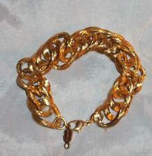 Vintage Signed Napier Shiny Gold Tone Link Bracelet!