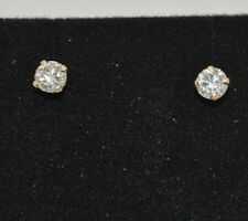 .79Ct Round Earrings Studs Solid 14K Yellow Gold Brilliant Cut