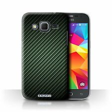 Stuff4 Case for Samsung Galaxy Core Prime/carbon Fibre Effect/pattern/green