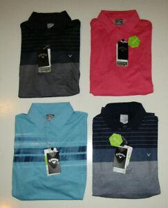 CALLAWAY Mens NWT Opti Stretch Golf Polo Black Blue Pink M L XL XXL $75