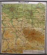 Scheda crocifissi Muro Mappa Map resina Vorland resina Solling Elm Deister 1957 162x186c