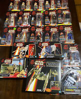 21 Pc Lot Star Wars Phantom Menace Open Box Commtech Reader W/ Characters & MORE