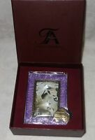 Taylor Avedon collectible Enamel Photo Picture Frame purple slv new + box