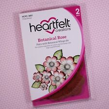 Heartfelt Creations Cling Rubber Stamp Set ~ Botanical Rose, HCPC3651 ~ NIP