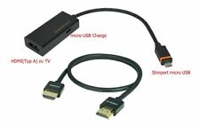 Slimport Micro USB a HDMI para LG Nexus 5, Nexus 4, Optimus g2 + 1,5m, cable HDMI