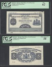 Barbados Obverse and Reverse  5 Dollars ND(1937-49) PS111p Die Proof  AUNC-UNC