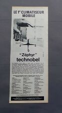 PUB PUBLICITE ANCIENNE ADVERT CLIPPING 24617 CLIMATISEUR MOBILE ZEPHYR TECHNOBEL