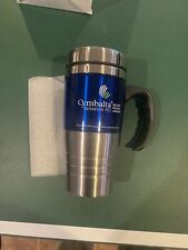ELI LILLY PHARMACEUTICALS CYMBALTA TRAVEL COFFEE MUG-STAINLESS STEEL/PLASTIC NEW