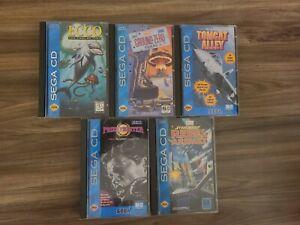 Sega CD Games Mini-Lot 4 games 1 empty case READ DESCRIPTION