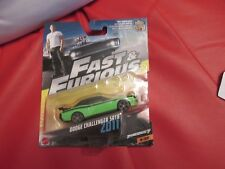 FAST AND FURIOUS DODGE CHALLENGER SRT8 NEW ON CARD 1/55