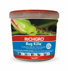 BUG KILLA RICHGRO 1kg Controls Garden Insecticide Bug Aphids Beetle Larvae