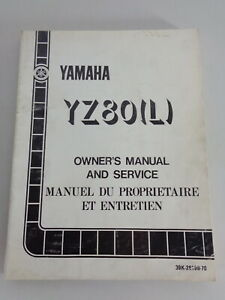 Taller Manual / Manual D'Entretien Yamaha YZ 80 L Moto de Cross Desde 07/1983