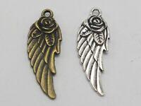 Free Ship 240 pcs tibet silver moon fairy charms 25x15mm B796