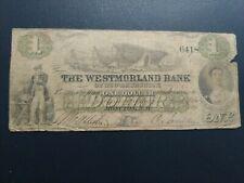1861 $1 Westmorland Bank Of New-Brunswick Moncton, Canada
