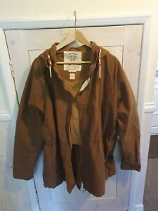 Fat Face Brown Hooded Jacket - Size Large #639