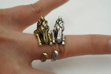 Mixed Metals Band Costume Rings without Stone