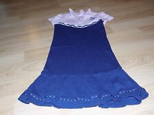 Girls Size 12 Gymboree Homecoming Kitty Pink Navy Polo Style Cheer Team Dress