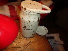 Pot a Cornichon Marqué Olive Grès sans sa Pince bois Cuillère facile a trouver