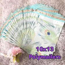 30 Designer Printed Poly Mailers 10X13 Shipping Envelopes Bags PEACOCK