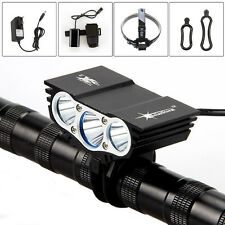 Neu 9000lm 3x XML T6 LED SolarStorm Fahrrad Licht Scheinwerfer Lamp 12000mAh