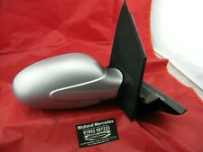 SMART CAR 450 FORTWO 1998-2007 OS DRIVERS RIGHT SILVER DOOR WING MIRROR & GLASS
