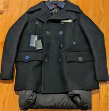 $2295 Mens DSquared2 Peacoat with Puffer Back Jacket Black 52 Large