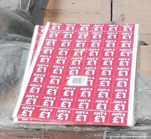 2400-mix 2For£1,3for£1,4for£1,5for£1 Price Stickers Self Adhesive Point Of Sale