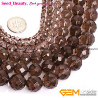 New AAA Grade Natural Faceted Brown Smoky Quartz Beads For Jewelry Making 15''