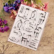 Cat Meow Transparent Silicone Clear Stamps Scrapbooking Embossing DIY Crafts