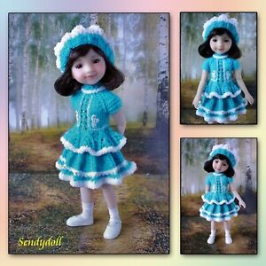 """OOAK outfit  14"""" Ruby Red Fashion Friends _ Wellie wishers _ Turquoise"""