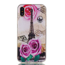 Women Men Luxury Soft Silicone Patterned Slim TPU Case Cover for Mobile PHONES Rose Tower for Sony Xperia Xa1 - 2017