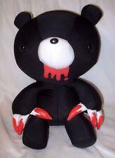 "Snow Foam Micro Beads 16""-18"" Japanese Black Bear Bloody Paws Cushion Pillow-New"