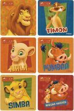 6 X Square Stickers Lion King Simba Timon Pumbaa Hakuna Matata