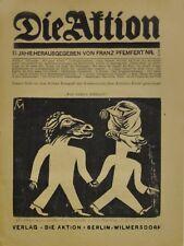 Conrad Felixmüller: Wir gehen wählen 1921. Original-Holzschnitt, signiert