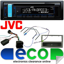 Vauxhall Zafira B JVC Car Stereo CD MP3 USB & Steering Wheel Kit Gun Metal