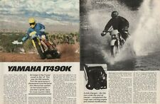 1983 Yamaha IT490K Motorcycle Road Test - 6-Page Vintage Article