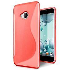 Handy Hülle für HTC One Mini 2 Silikon Case Slim Cover Schutzhülle Tasche Rot