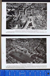 Aerial View Amsterdam & the Hague Netherlands-- 1923 Historial Prints